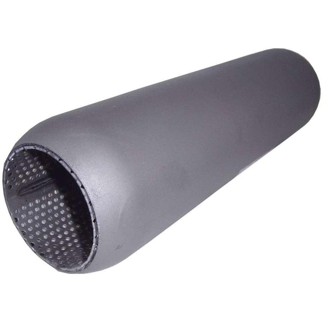 "Redback Hotdog Muffler Perforated 3"" in & out 18"" long with Glass Packing  image"