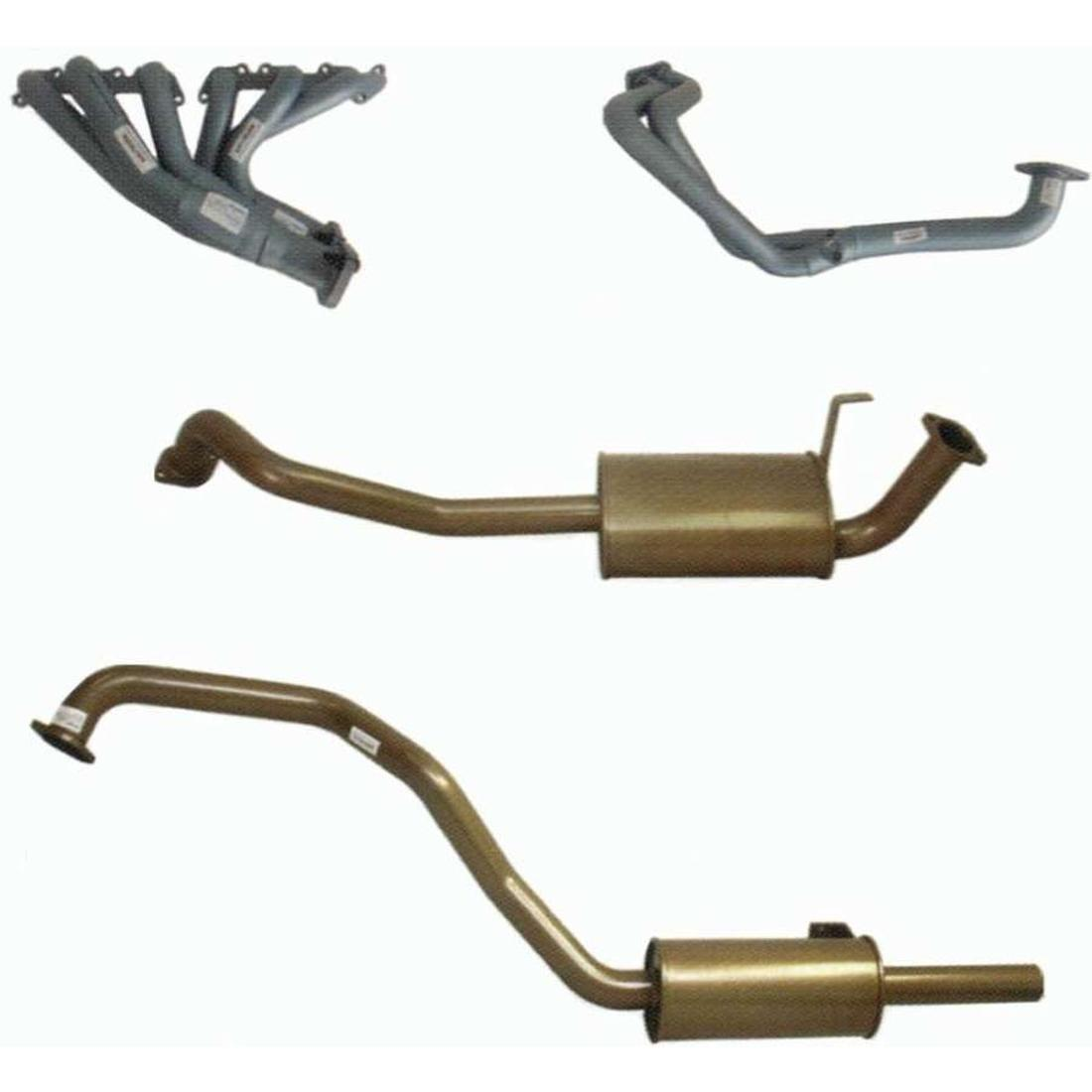 King Brown Landcruiser 80 Series - Engine Back Exhaust Stainless Steel image