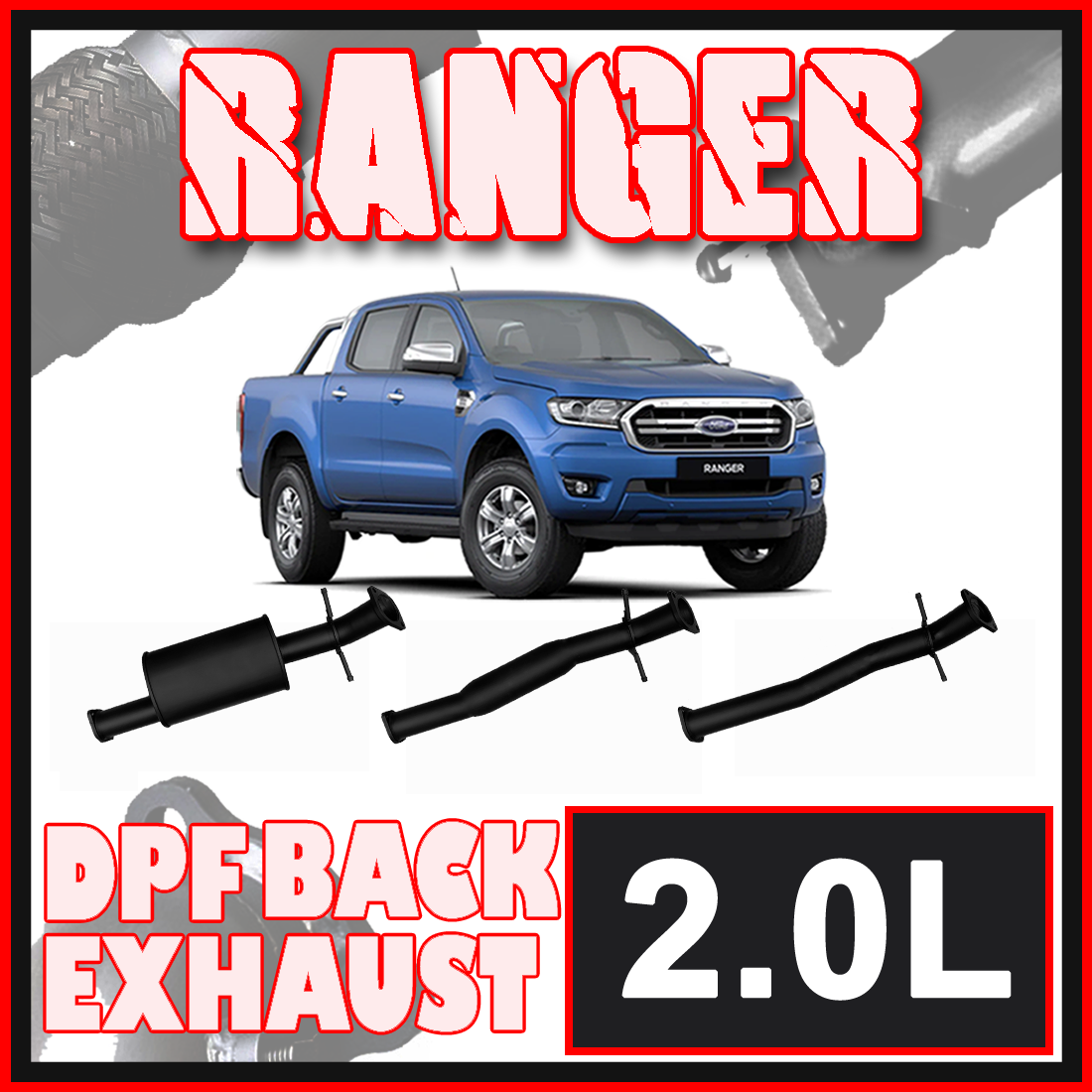 Ford Ranger 2.0L PX3 DPF Model Ignite Exhaust image