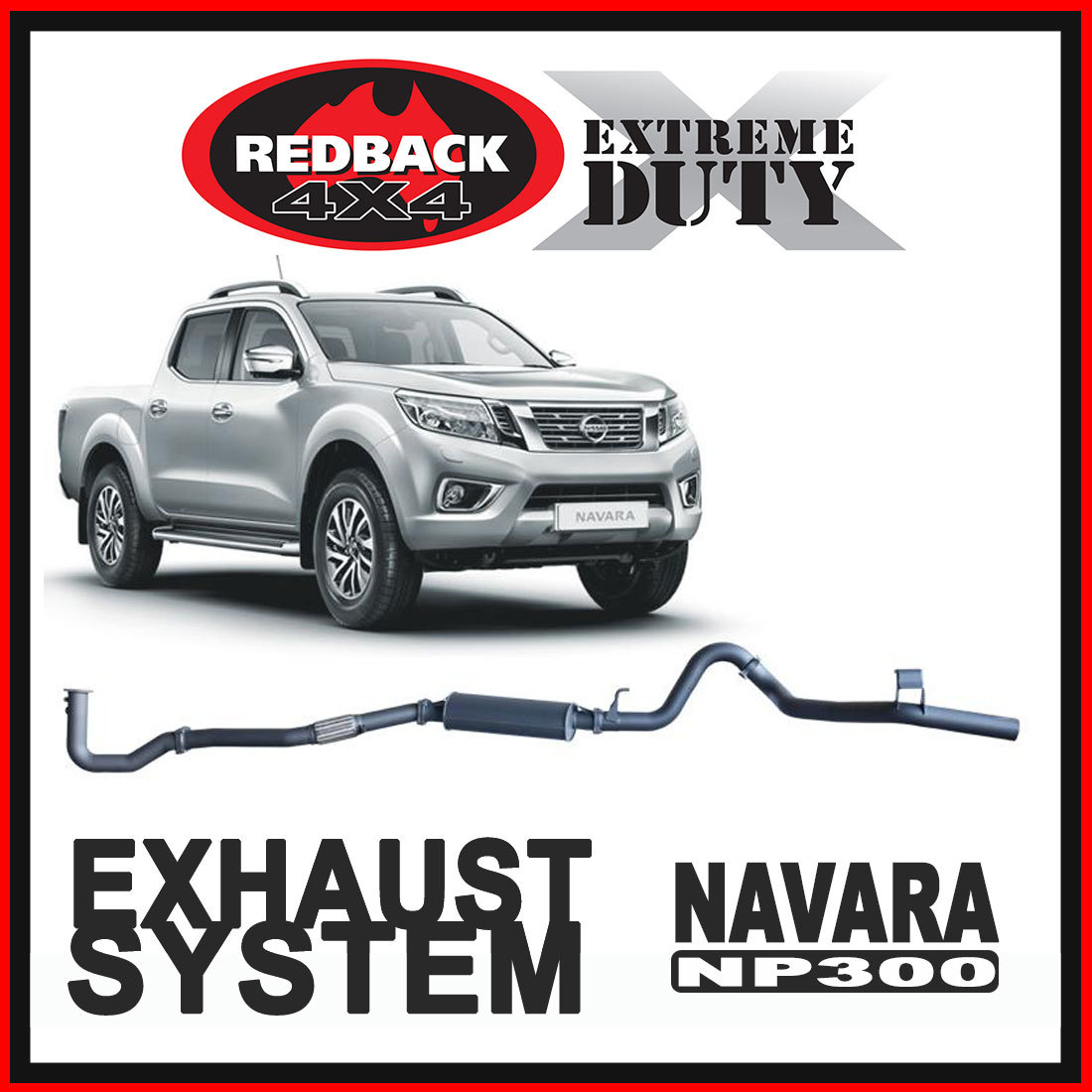 Nissan Navara D23 2.3L 2015 - Current Redback Extreme Duty Exhaust image