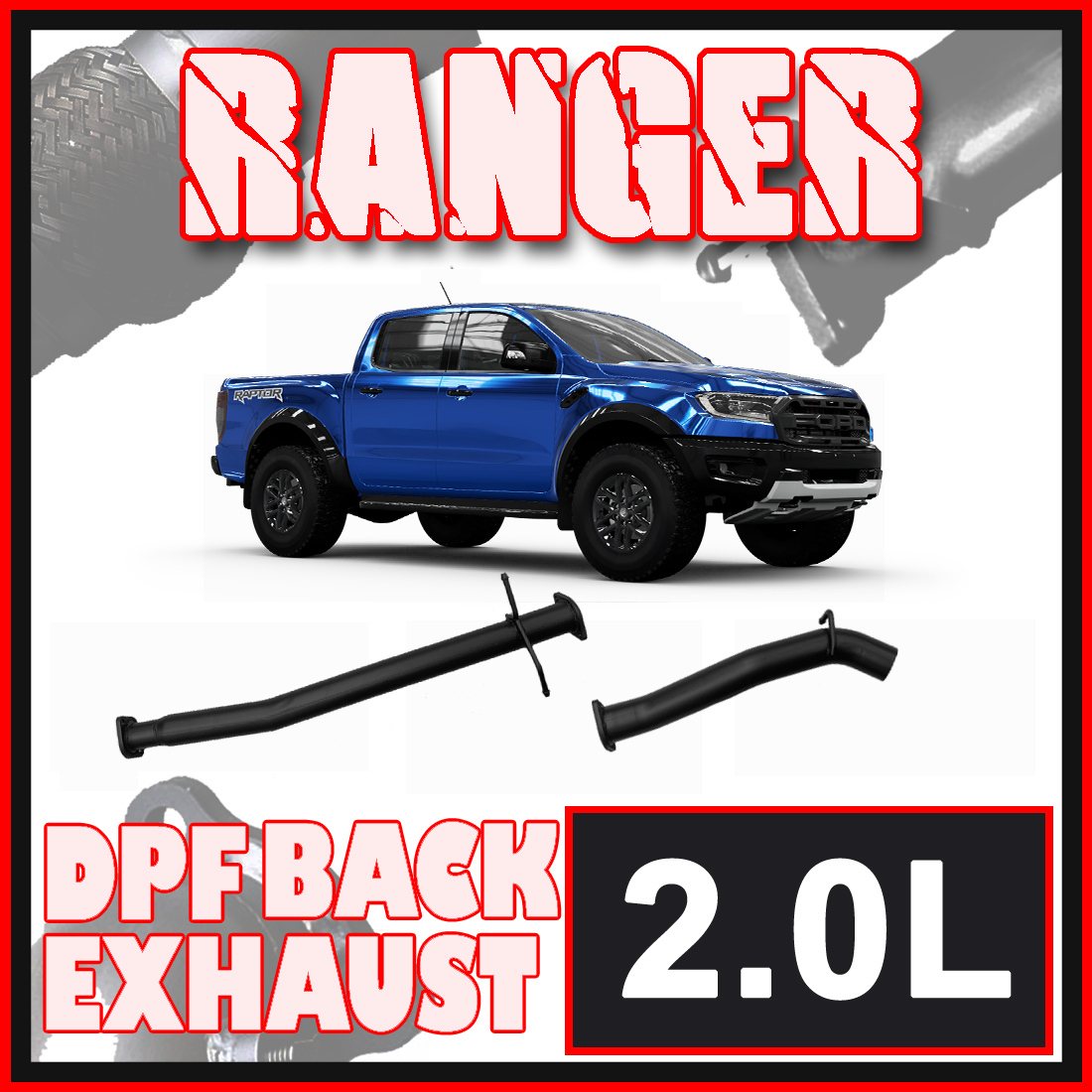 Ford Ranger Raptor 2.0L DPF Model Ignite Exhaust image