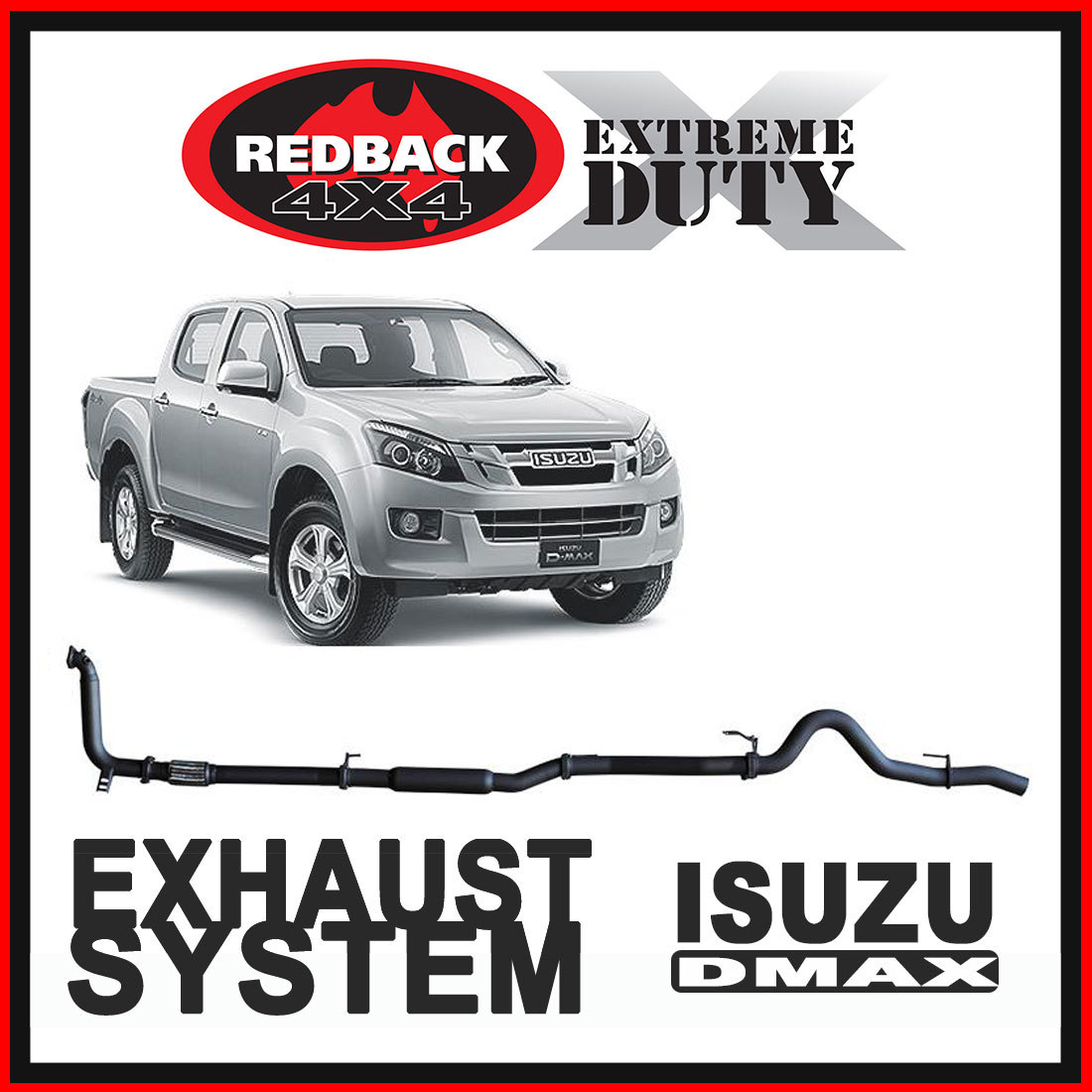 Isuzu D-Max RC 3L 2007 - 2012 Redback Extreme Duty Exhaust image
