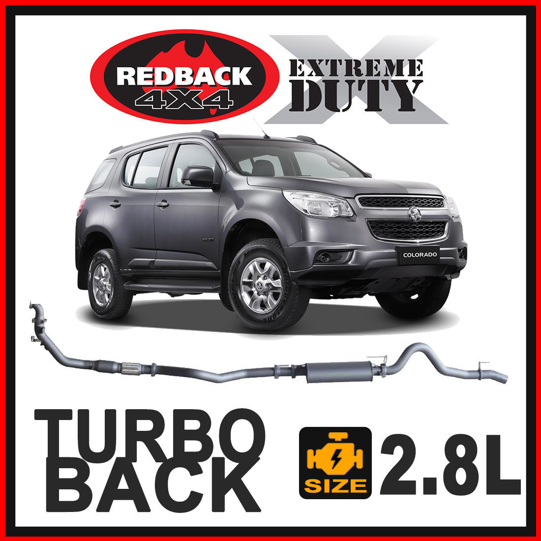 Holden Colorado RG 7 2.8L 2012 - 2016 Redback Extreme Duty Exhaust image