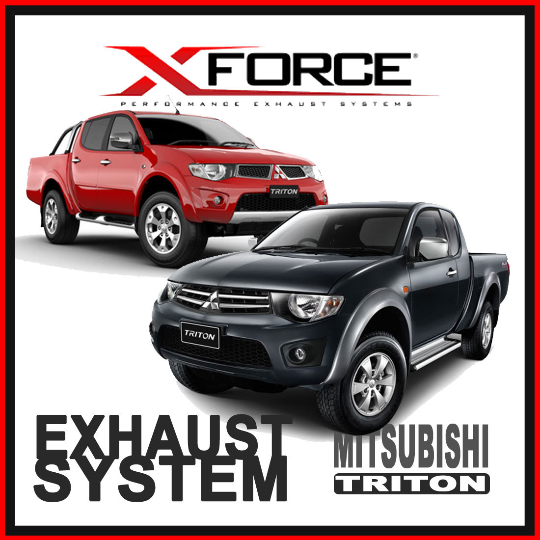 Mitsubishi Triton Xforce Stainless Steel Exhaust image